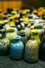 Preview iPhone wallpaper Xitang culture, colorful porcelain