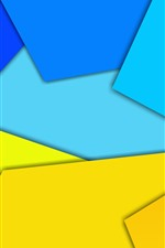 Preview iPhone wallpaper Yellow and blue geometric figure, abstract picture