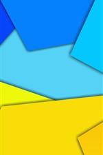 iPhone fondos de pantalla Figura geométrica amarilla y azul, imagen abstracta