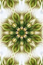 Abstract flowers, symmetry, kaleidoscope, bright