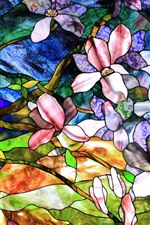 Preview iPhone wallpaper Abstract painting, flowers, colors