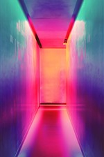 Preview iPhone wallpaper Alley, wall, colorful light