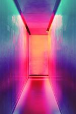 Aperçu iPhone fond d'écranAllée, mur, lumière colorée