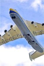 Preview iPhone wallpaper An-225 aircraft, flight, sky, clouds