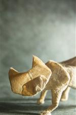iPhone обои Искусство оригами, кошка