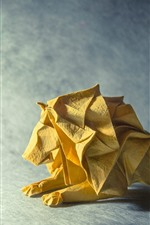 iPhone обои Искусство оригами, лев