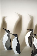 Preview iPhone wallpaper Art origami, penguins