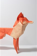 Preview iPhone wallpaper Art origami, red fox