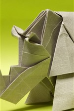 Preview iPhone wallpaper Art origami, rhino