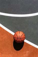 Preview iPhone wallpaper Basketball, ground