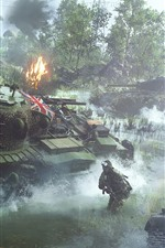 Preview iPhone wallpaper Battlefield 5, soldiers, tanks