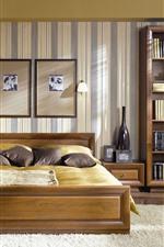 Preview iPhone wallpaper Bedroom, bed, interior, windows
