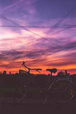 Preview iPhone wallpaper Bike, sunset, red sky