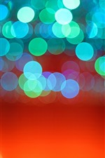 Preview iPhone wallpaper Blue light circles, orange background