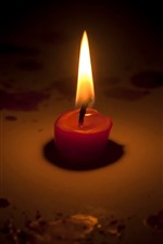 Preview iPhone wallpaper Candle, flame, fire, darkness