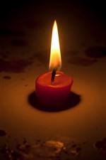 iPhone обои Свеча, пламя, огонь, тьма