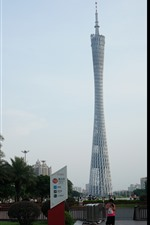 Canton Tower, city, Guangzhou, China