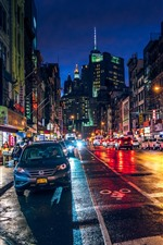 Chinatown, New York, city, street, night, USA