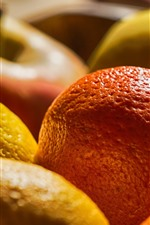 Preview iPhone wallpaper Citrus and apples, fruit