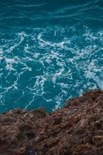 Preview iPhone wallpaper Coast, sea, waves, foam, stones