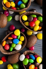 Preview iPhone wallpaper Colorful candy, pills, chocolate