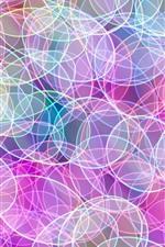 Colorful circles, bright, abstract