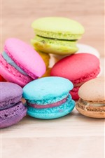 Preview iPhone wallpaper Colorful macarons, cakes, food