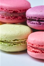 Preview iPhone wallpaper Colorful macaroon, cake, food