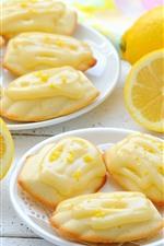 Preview iPhone wallpaper Cookies, lemon, tea