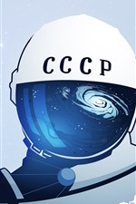 Preview iPhone wallpaper Cosmonaut, space, art picture