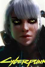 Preview iPhone wallpaper Cyberpunk 2077, girl, witch