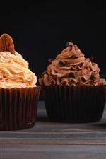 Aperçu iPhone fond d'écranDélicieux quatre sortes de petits gâteaux, crème