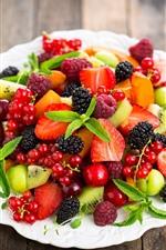 Preview iPhone wallpaper Delicious fruit, berries, strawberry, blackberry, raspberry, kiwi