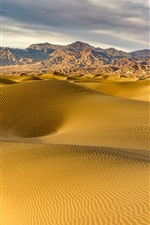Preview iPhone wallpaper Desert, dunes, mountains, nature landscape