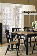 Preview iPhone wallpaper Dining room, table, chairs, interior