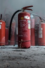 Preview iPhone wallpaper Fire extinguishers, dust