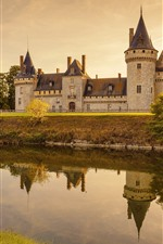 Preview iPhone wallpaper France, Chaumont Castle, trees, river, water reflection