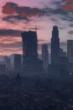 미리보기 iPhone 배경 화면 GTA V, 도시, 건물, 예술 그림