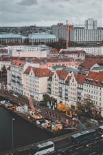 Preview iPhone wallpaper Germany, Berlin, city, bridge, river, cars, buildings