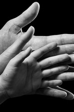 Preview iPhone wallpaper Hands, big, medium, small