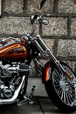 Preview iPhone wallpaper Harley-Davidson motorcycle, side view