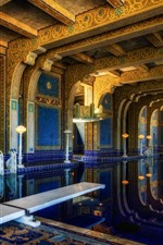 Preview iPhone wallpaper Hearst castle, interior, pool, USA