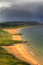 Preview iPhone wallpaper Ireland, Donegal, sea, coast, beach