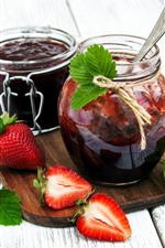 Jam, strawberry, jar