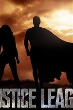 Preview iPhone wallpaper Justice League, superheroes, silhouette