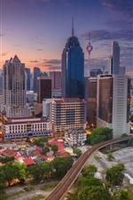 Preview iPhone wallpaper Kuala Lumpur, Malaysia, cityscape, skyscrapers