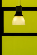 Lamp, green background