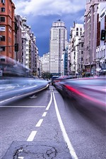 Preview iPhone wallpaper Madrid, Spain, city, road, buildings