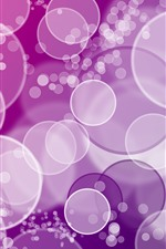 Preview iPhone wallpaper Many bubbles, circles, abstract, purple background