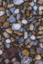 Preview iPhone wallpaper Many pebbles, colors
